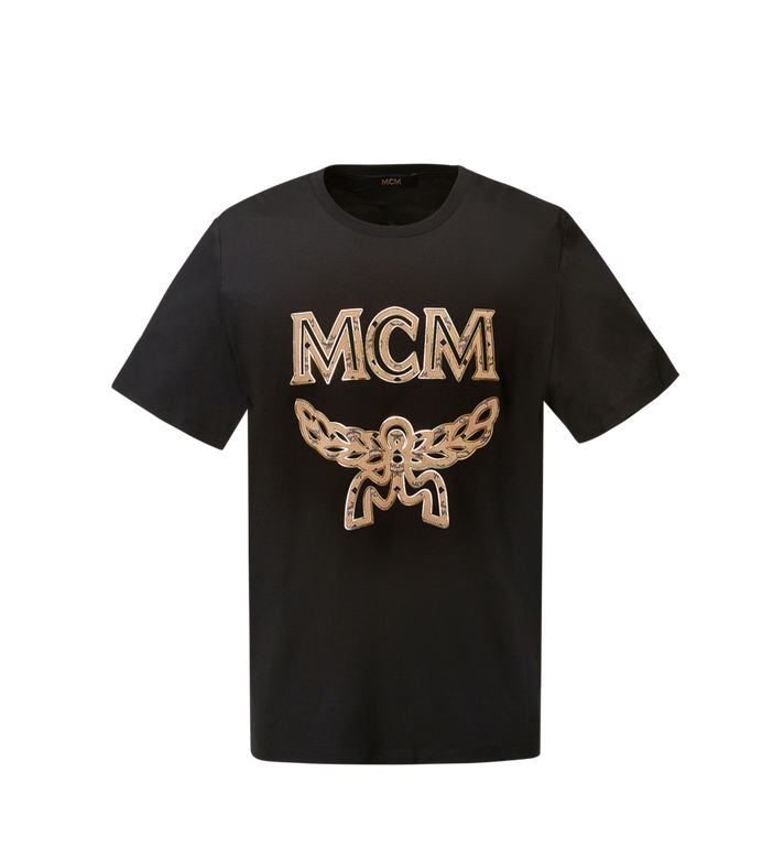 MCM Women's Logo T-Shirt MFT8SMM11BK00S AlternateView