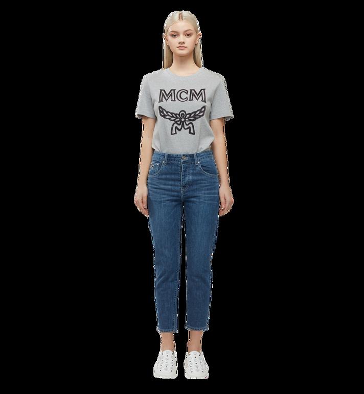 MCM Women's Logo T-Shirt Grey MFT8SMM11EG00L Alternate View 5