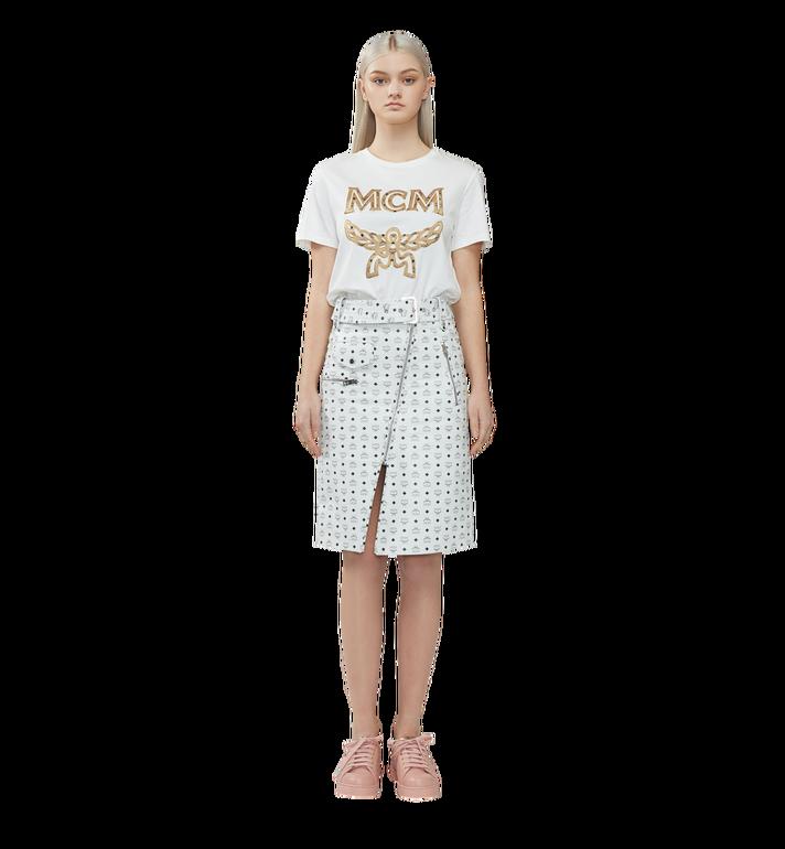 MCM レディース クラシックロゴ Tシャツ White MFT8SMM11WI00L Alternate View 4