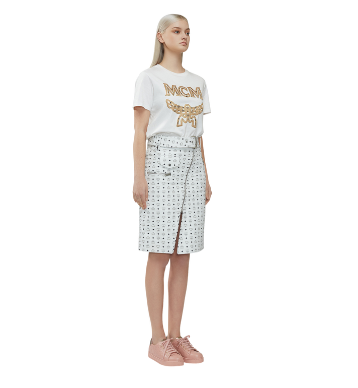 MCM レディース クラシックロゴ Tシャツ White MFT8SMM11WI00L Alternate View 5