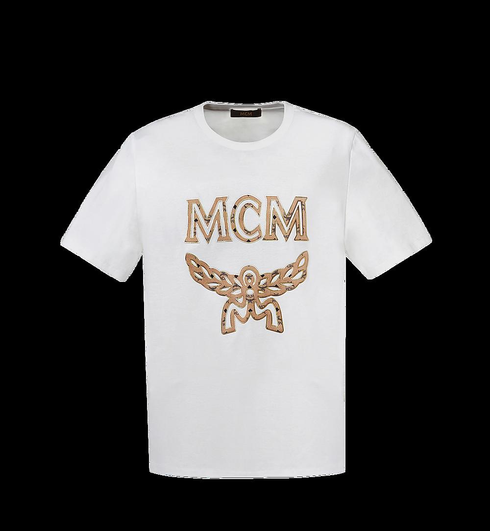 MCM 女士經典標誌 T 恤 White MFT8SMM11WI00S 更多視圖 1