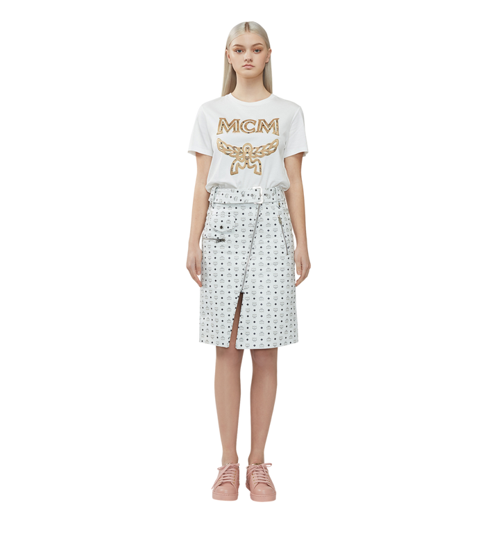 MCM レディース クラシックロゴ Tシャツ White MFT8SMM11WI00S Alternate View 4