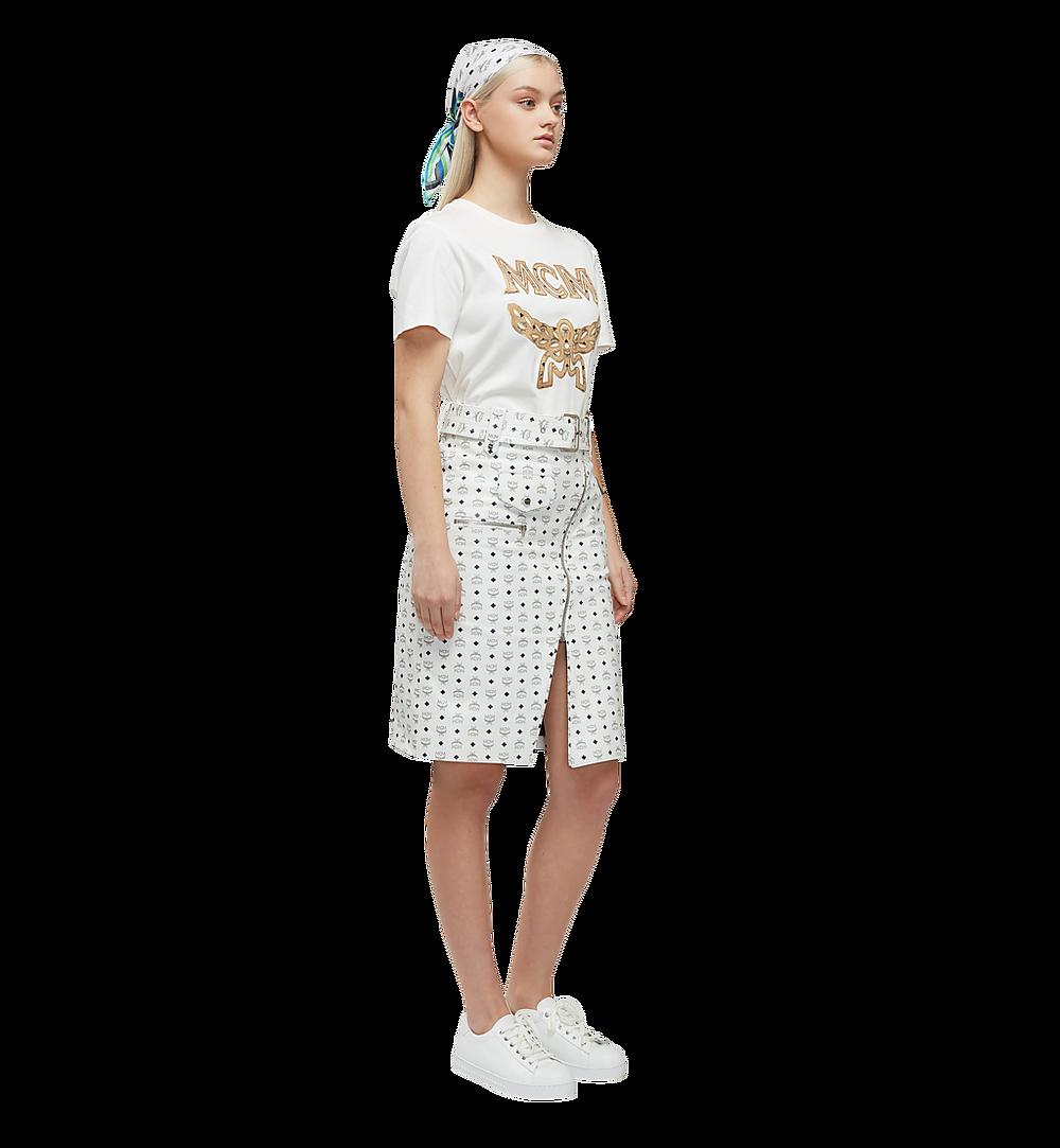 MCM เสื้อยืดโลโก้สำหรับผู้หญิง White MFT8SMM11WI00S มุมมองอื่น 5