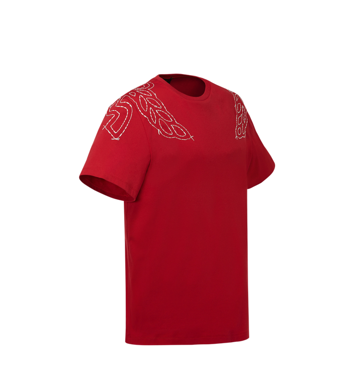 MCM Women's Laurel Stitch T-Shirt MFT8SMM22RU00S AlternateView2
