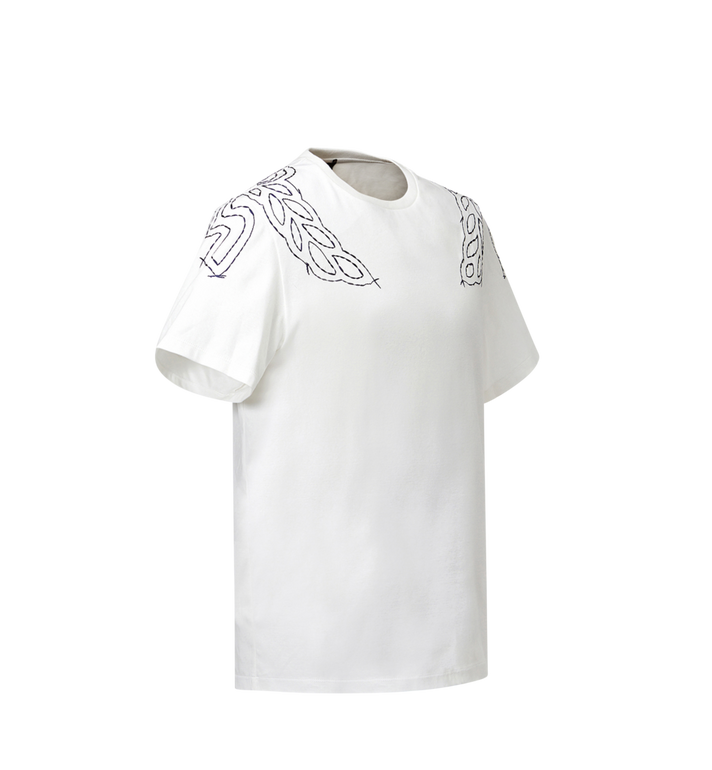 MCM Women's Laurel Stitch T-Shirt MFT8SMM22WI00S AlternateView2