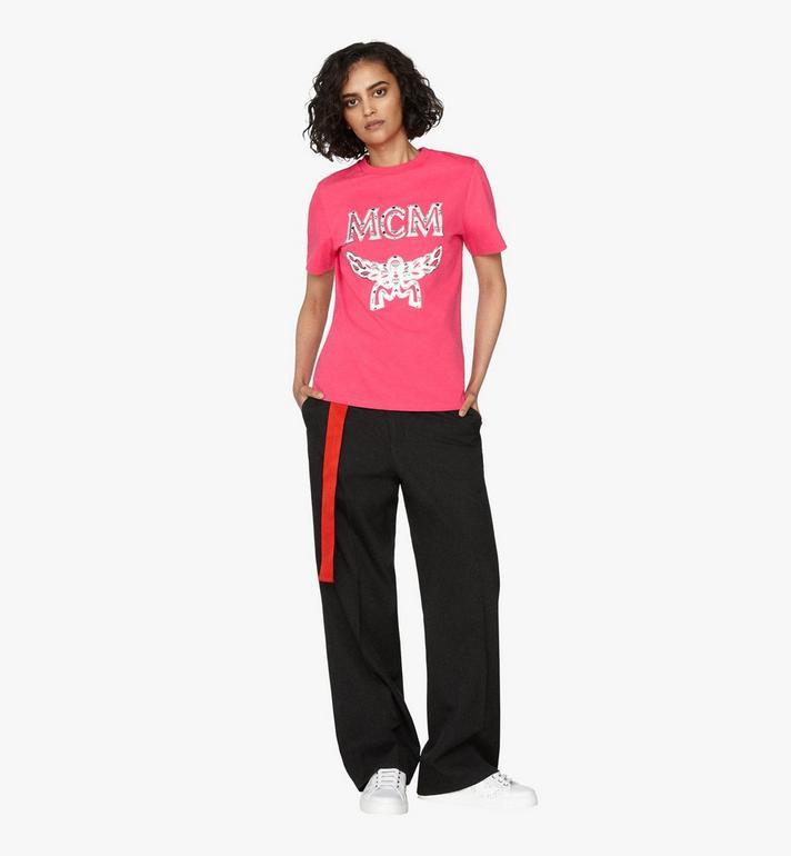 MCM Klassisches Damen-T-Shirt mit Logo Alternate View 3