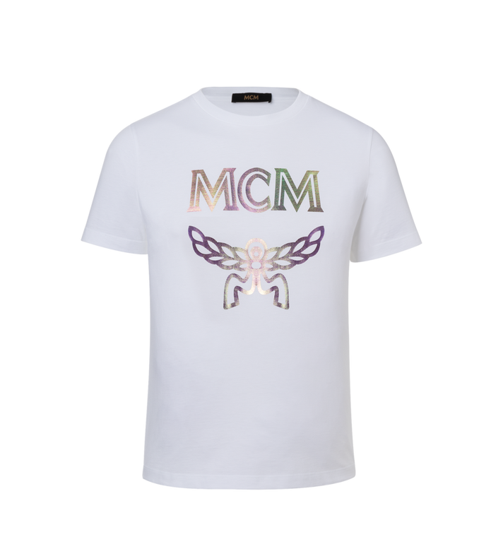 MCM Women's Hologram Print Logo T-Shirt Alternate View 1