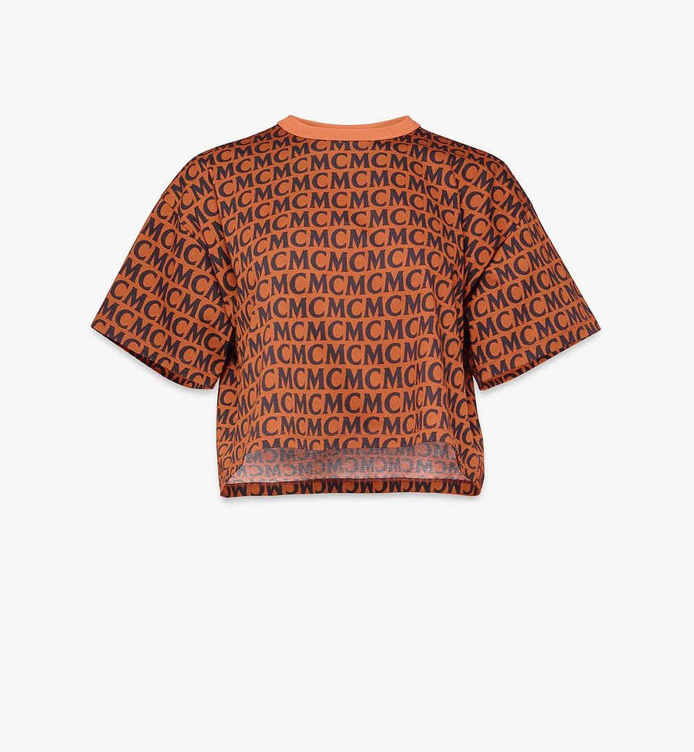 MCM 女士1976系列经典花纹T恤 Brown MFTAAMD01C400L 更多视角 1
