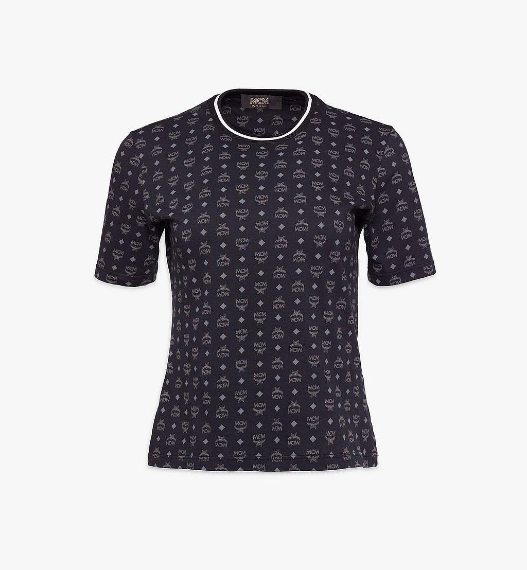 MCM 1976 T-Shirt mit Visetos-Monogramm für Damen Black MFTAAMM02BK00M Noch mehr sehen 1