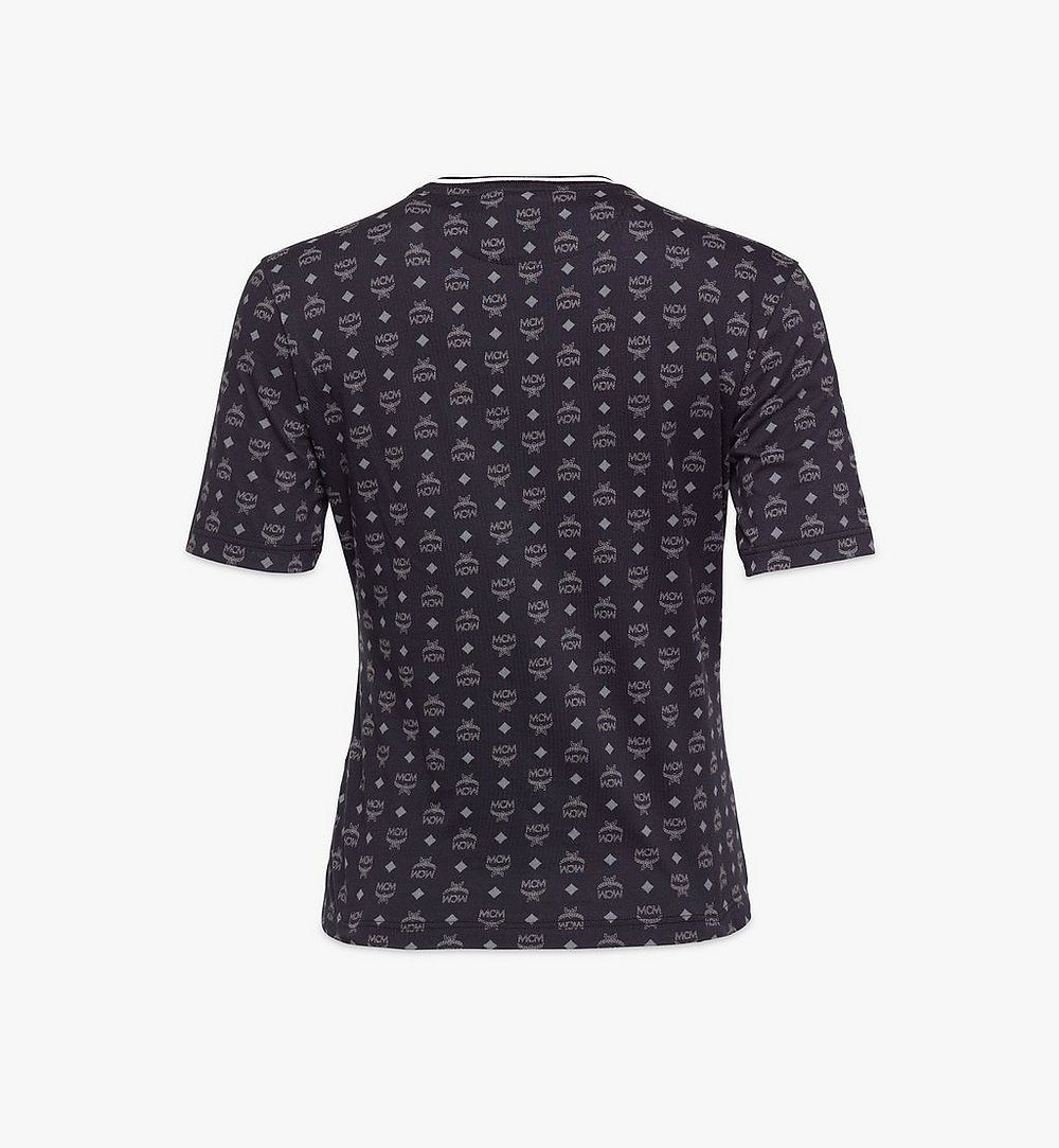 MCM Women's Visetos Print T-Shirt Black MFTAAMM02BK0XS Alternate View 1