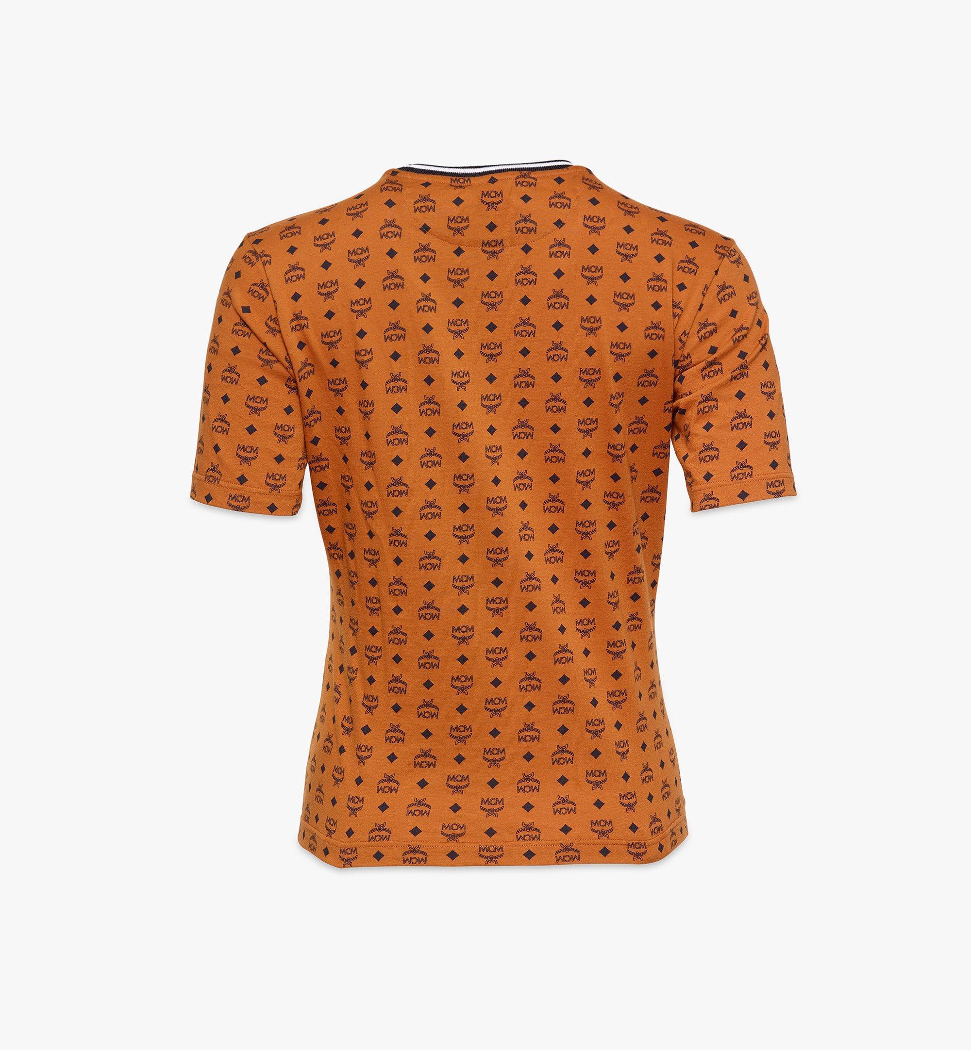 MCM Women's Visetos Print T-Shirt Cognac MFTAAMM02CO00L Alternate View 1