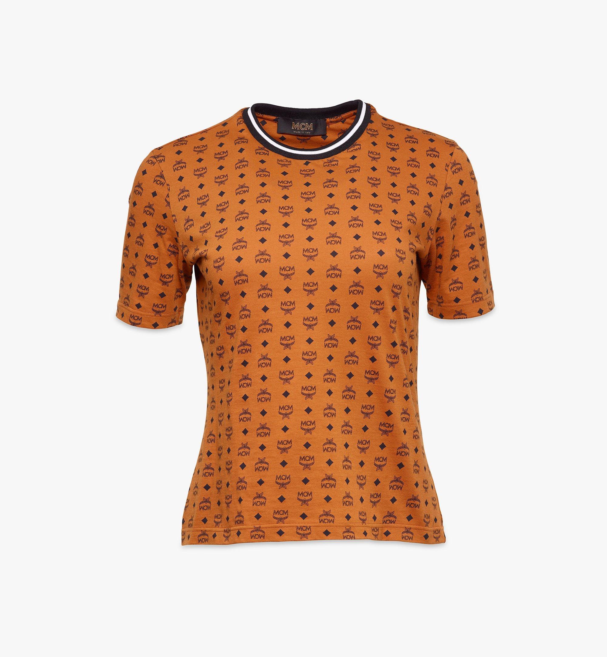 MCM 女士Visetos 印花 T 恤 Cognac MFTAAMM02CO00S 更多視圖 1