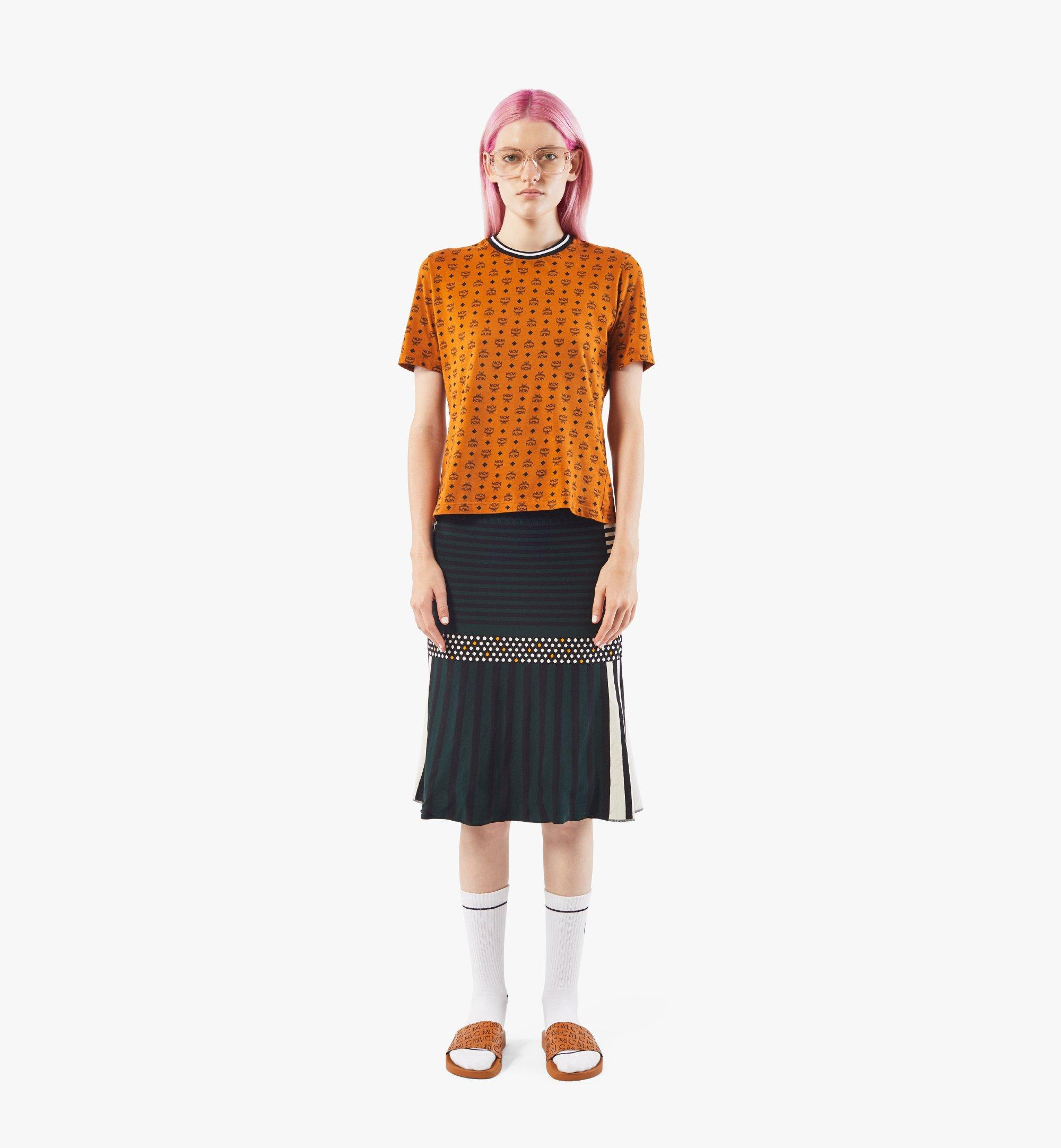 MCM 女士Visetos 印花 T 恤 Cognac MFTAAMM02CO00S 更多視圖 2