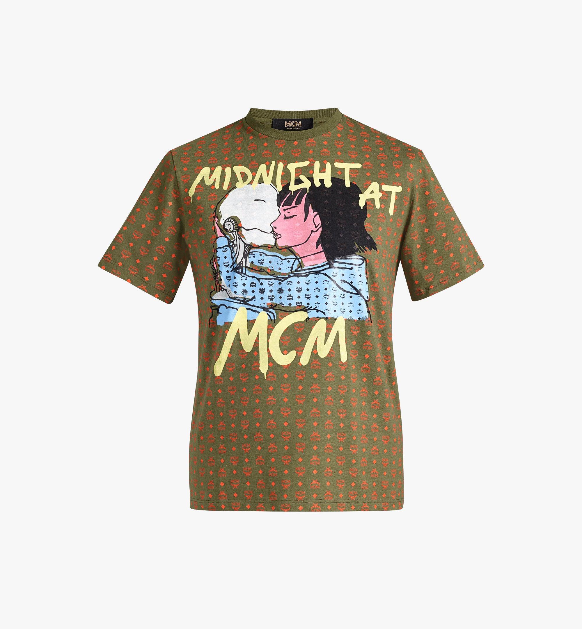 MCM Women's MCM x Midnight Visetos T-Shirt  MFTAAUP01G800S Alternate View 1
