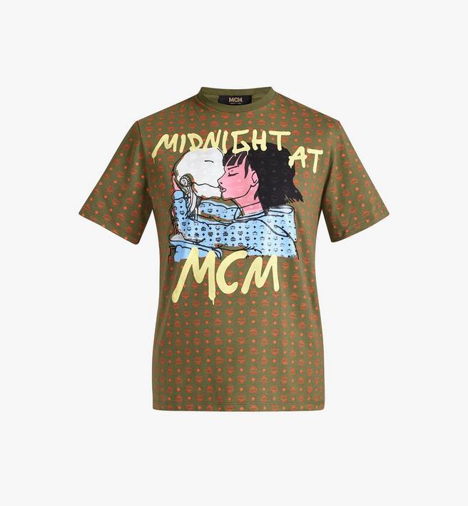 MCM Women's MCM x Midnight Visetos T-Shirt Alternate View