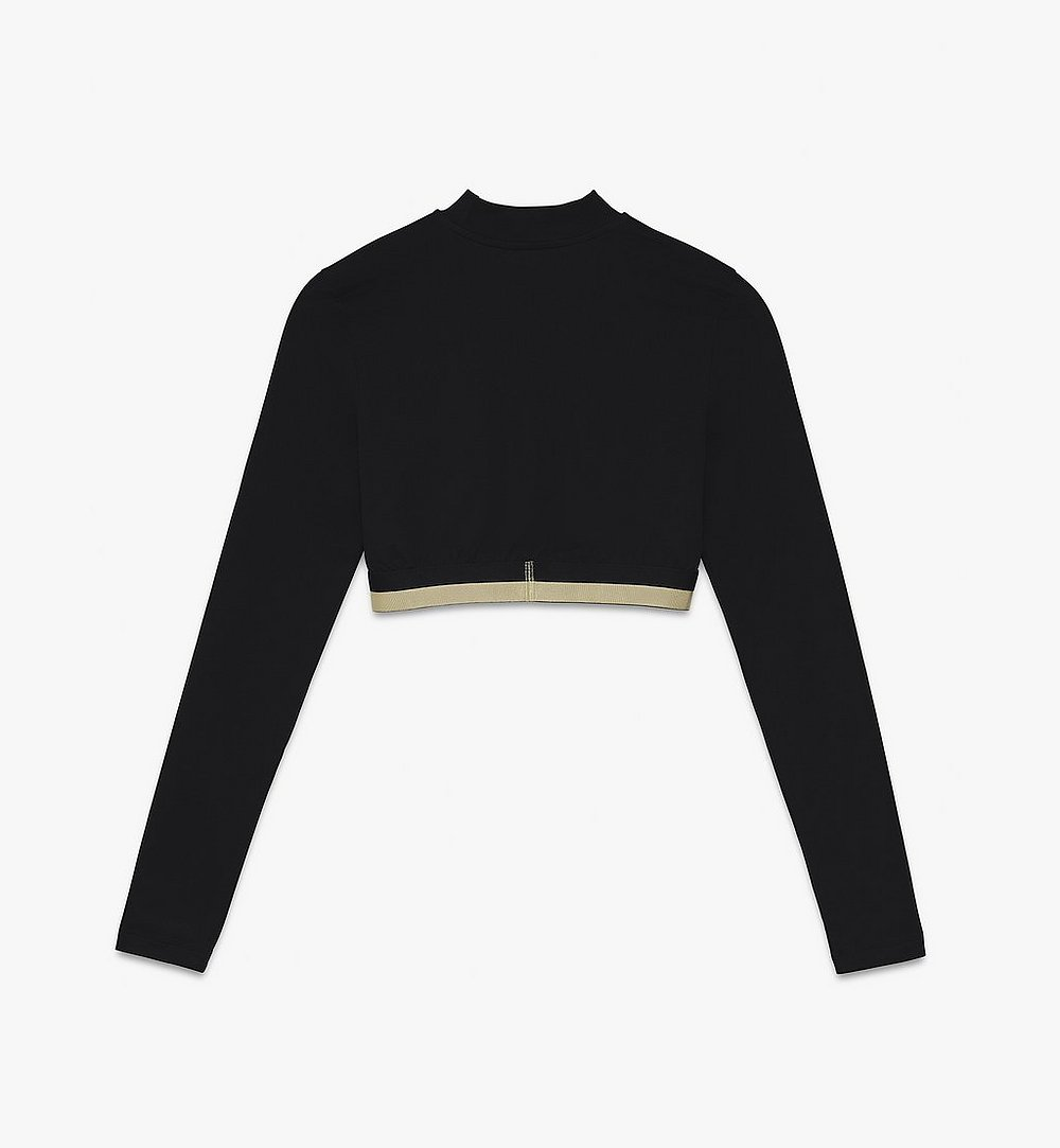 MCM Women's 1976 Crop Top Black MFTASBM01BK00L Alternate View 1