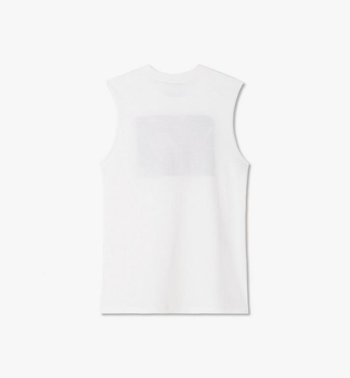 MCM Women's MCM x PHENOMENON Lux Sleeveless T-Shirt White MFTASJP04WT00M Alternate View 2