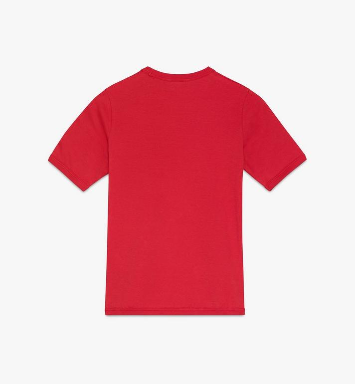 MCM T-shirt à logo pour femme Red MFTASMM03R400L Alternate View 2