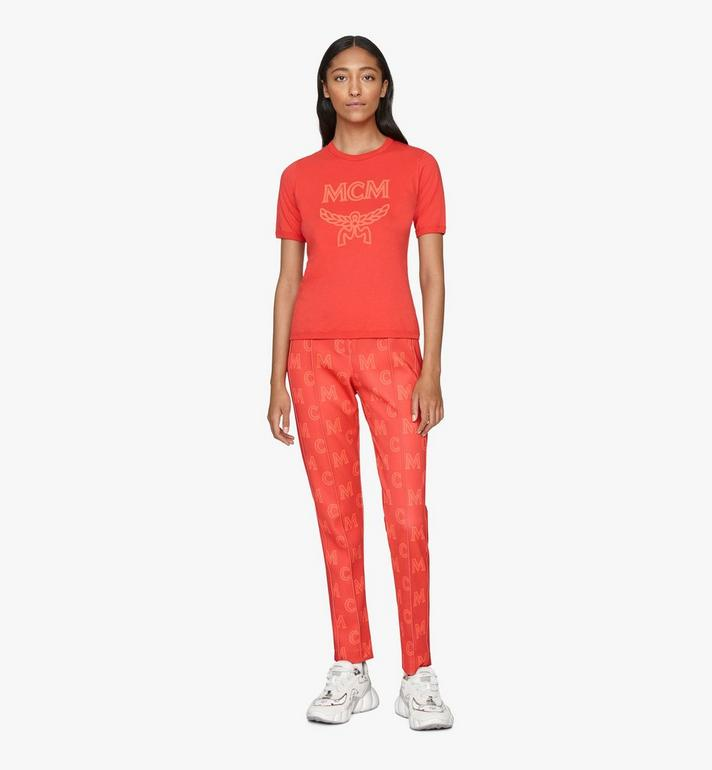 MCM T-shirt à logo pour femme Red MFTASMM03R400L Alternate View 3