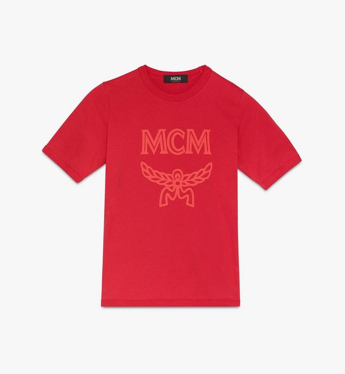 MCM T-shirt à logo pour femme Red MFTASMM03R400M Alternate View 1