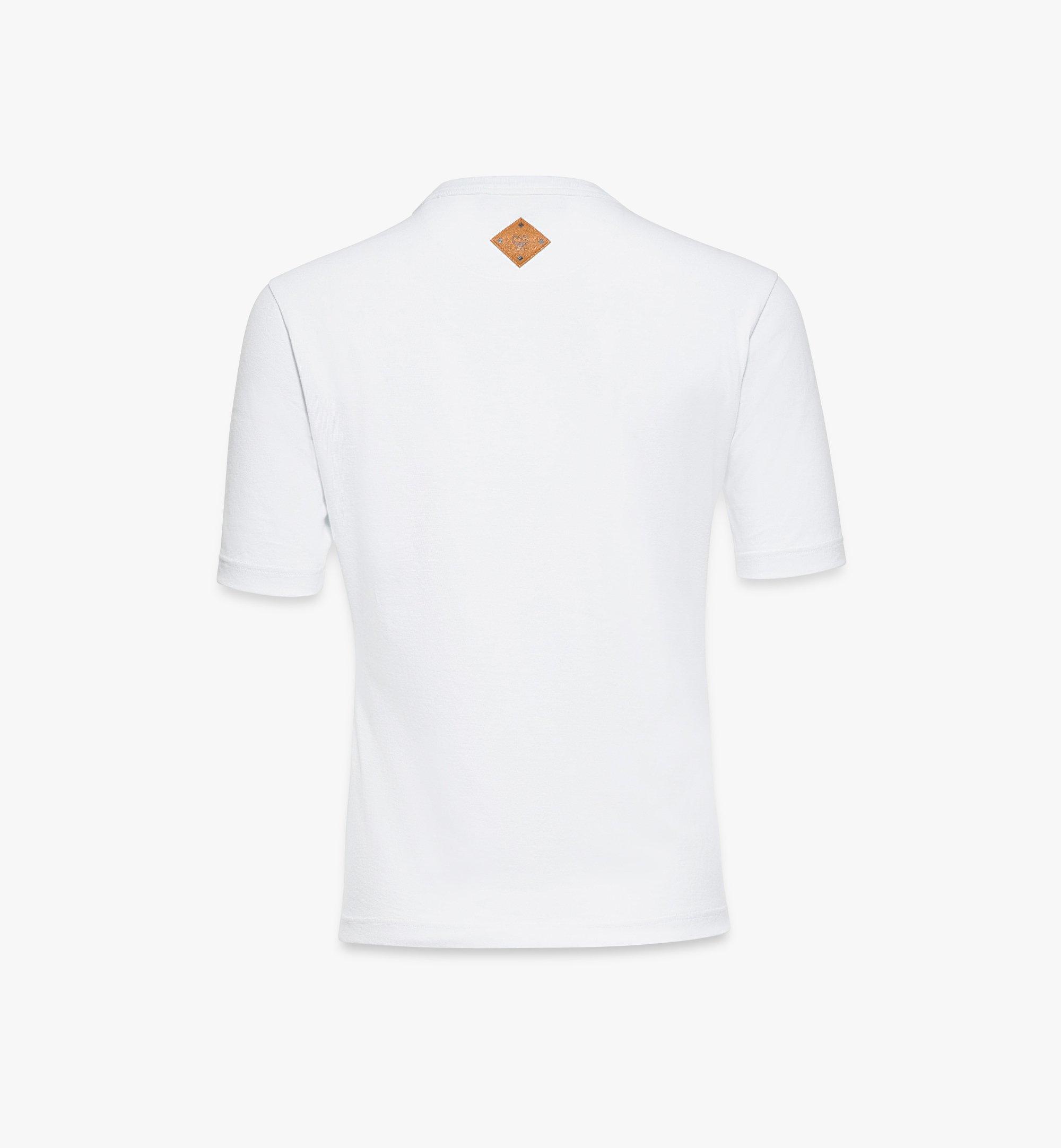 MCM Klassisches T-Shirt mit Logo für Damen White MFTASMM03W200M Noch mehr sehen 1
