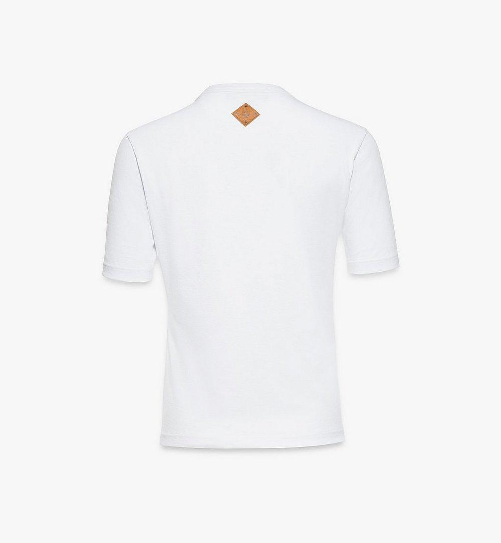 MCM Women's Classic Logo T-Shirt White MFTASMM03W200S Alternate View 1