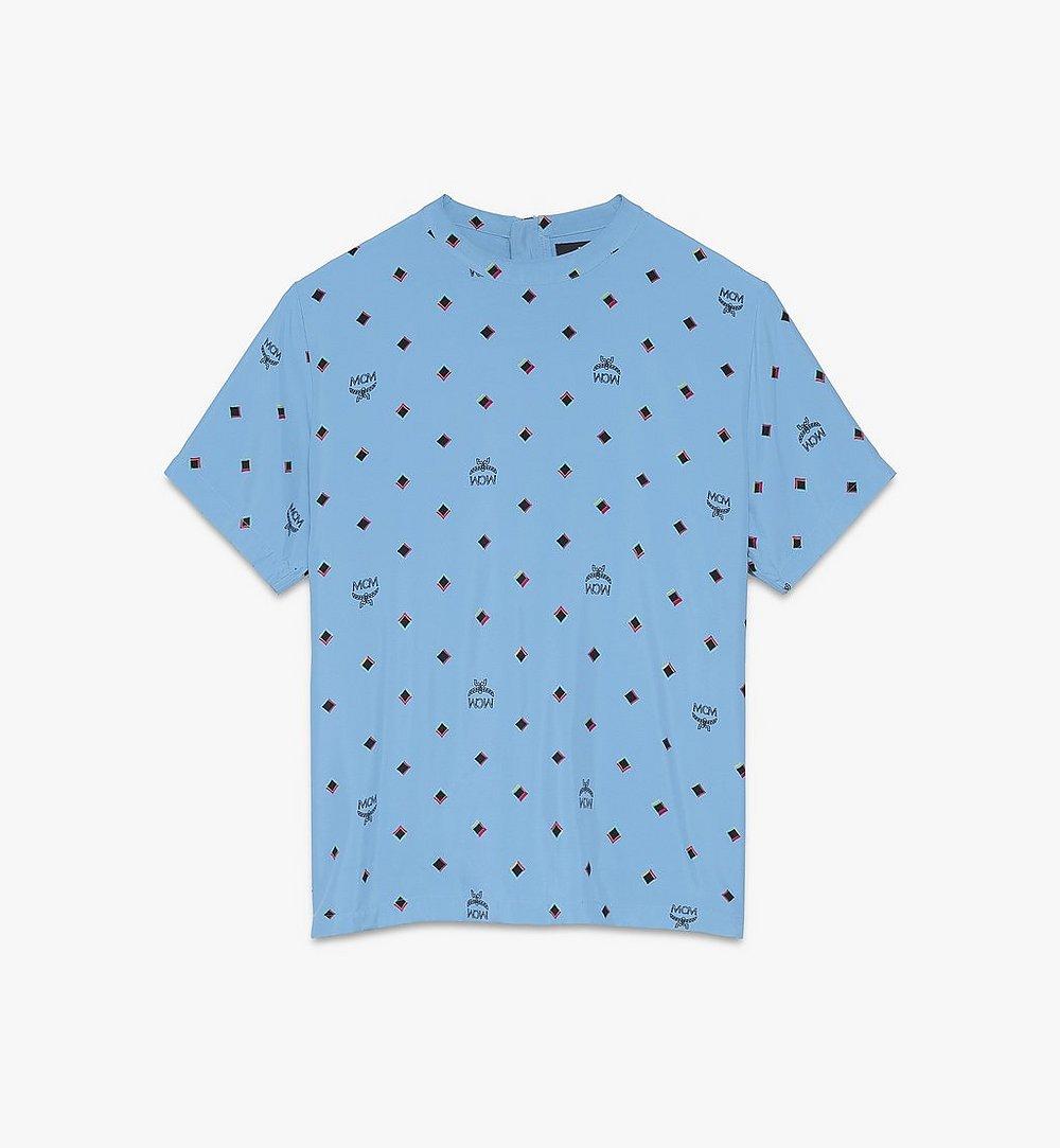 MCM T-shirt 1976 Disco Diamond pour femme Blue MFTASMV05H200S Plus de photos 1
