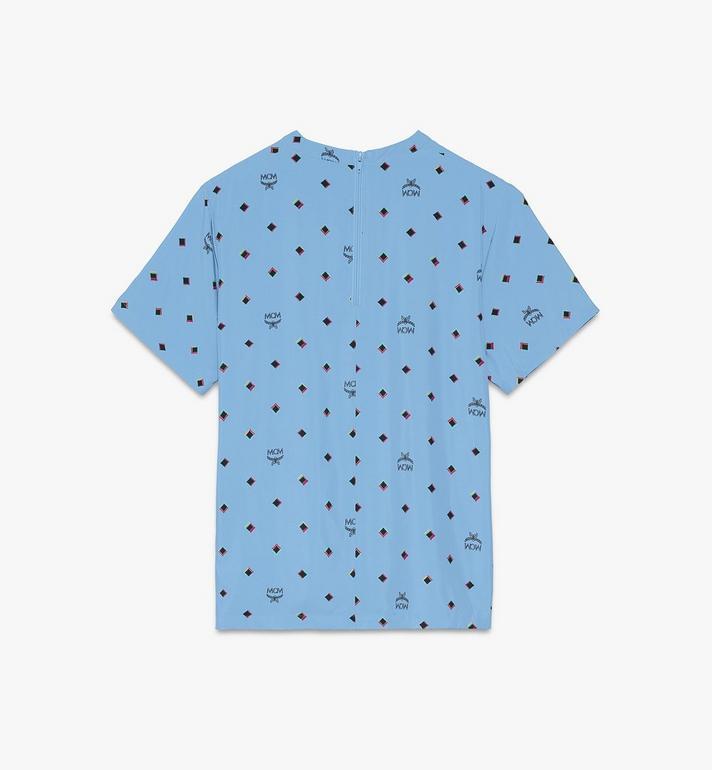 MCM T-shirt 1976 Disco Diamond pour femme Blue MFTASMV05H200S Alternate View 2