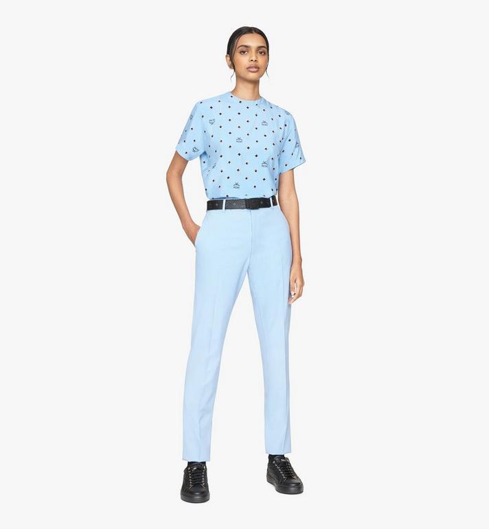 MCM 1976 T-Shirt mit Discorauten für Damen Blue MFTASMV05H200S Alternate View 3