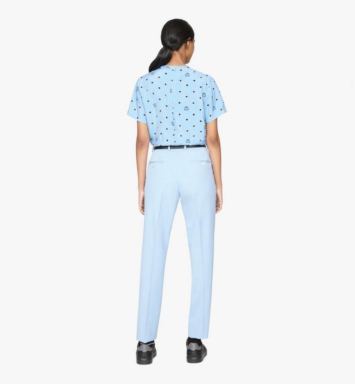 MCM 1976 T-Shirt mit Discorauten für Damen Blue MFTASMV05H200S Alternate View 4