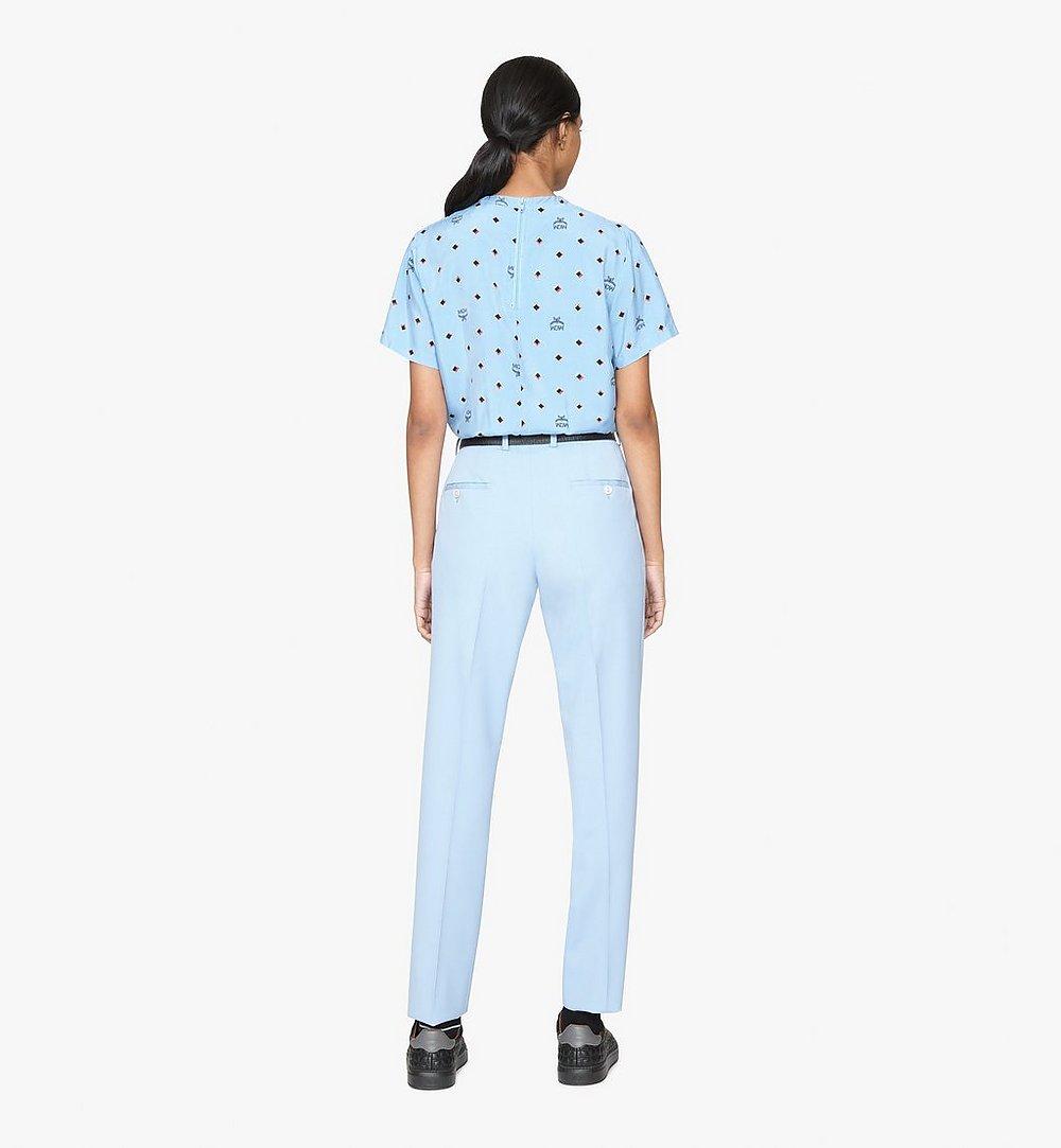 MCM T-shirt 1976 Disco Diamond pour femme Blue MFTASMV05H200S Plus de photos 2