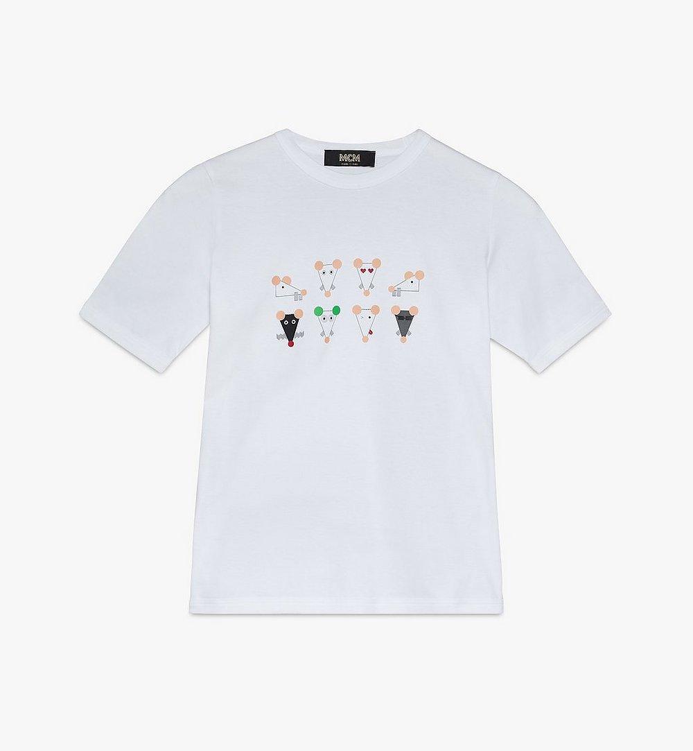 MCM 女士鼠年 T 恤 White MFTASSE02WT00M 更多視圖 1