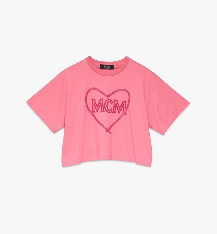 MCM Women's Valentine Crop T-Shirt Alternate View