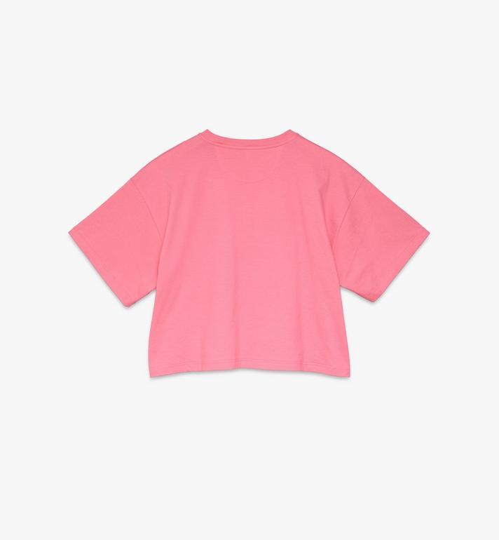 MCM Women's Valentine Crop T-Shirt Pink MFTASXN01QG00L Alternate View 2