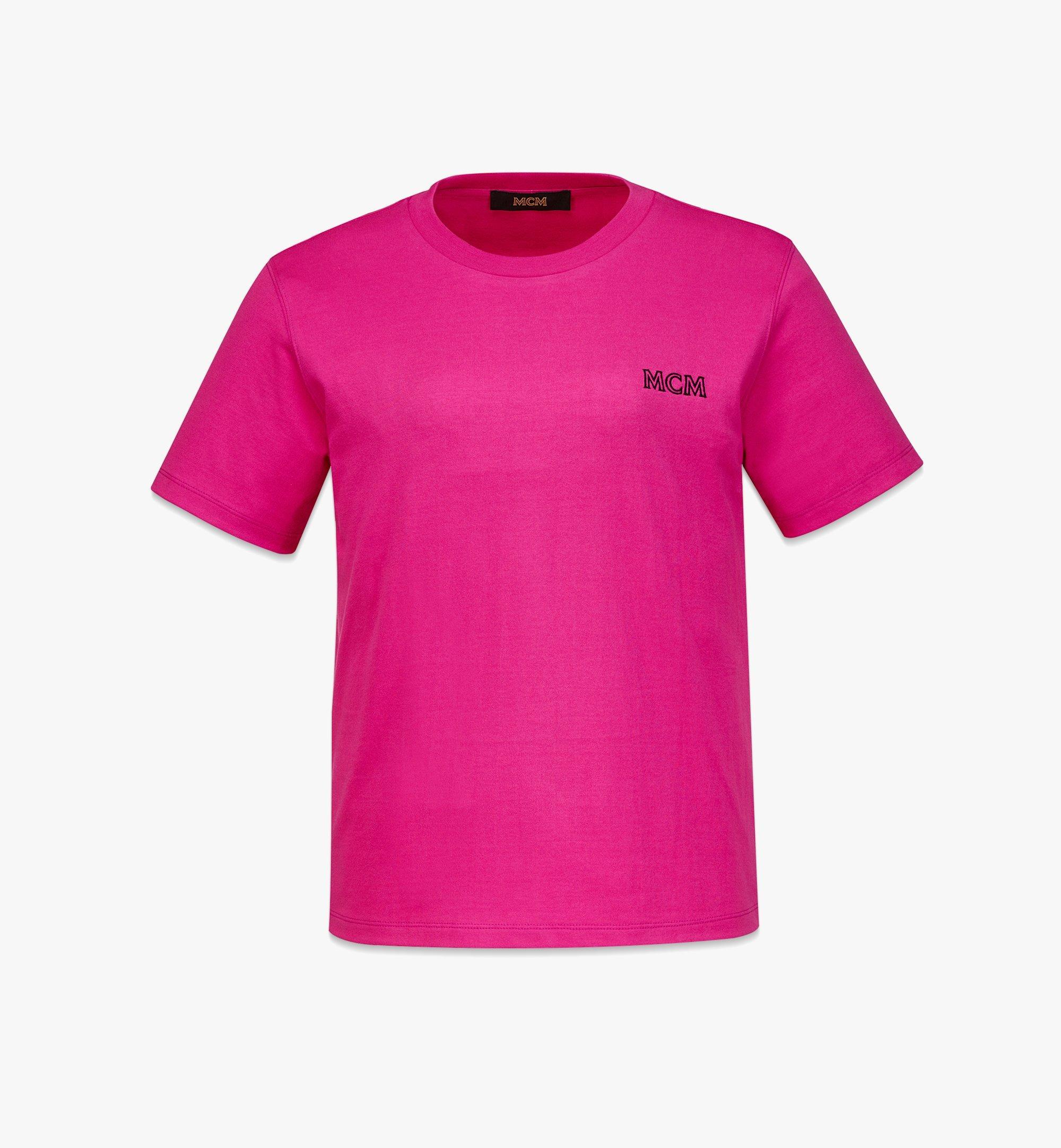 MCM Women's MCM Essentials Logo T-Shirt in Organic Cotton Pink MFTBABC01QW00L Alternate View 1