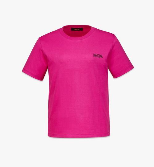 여성용 MCM 에센셜 오가닉 코튼 로고 티셔츠