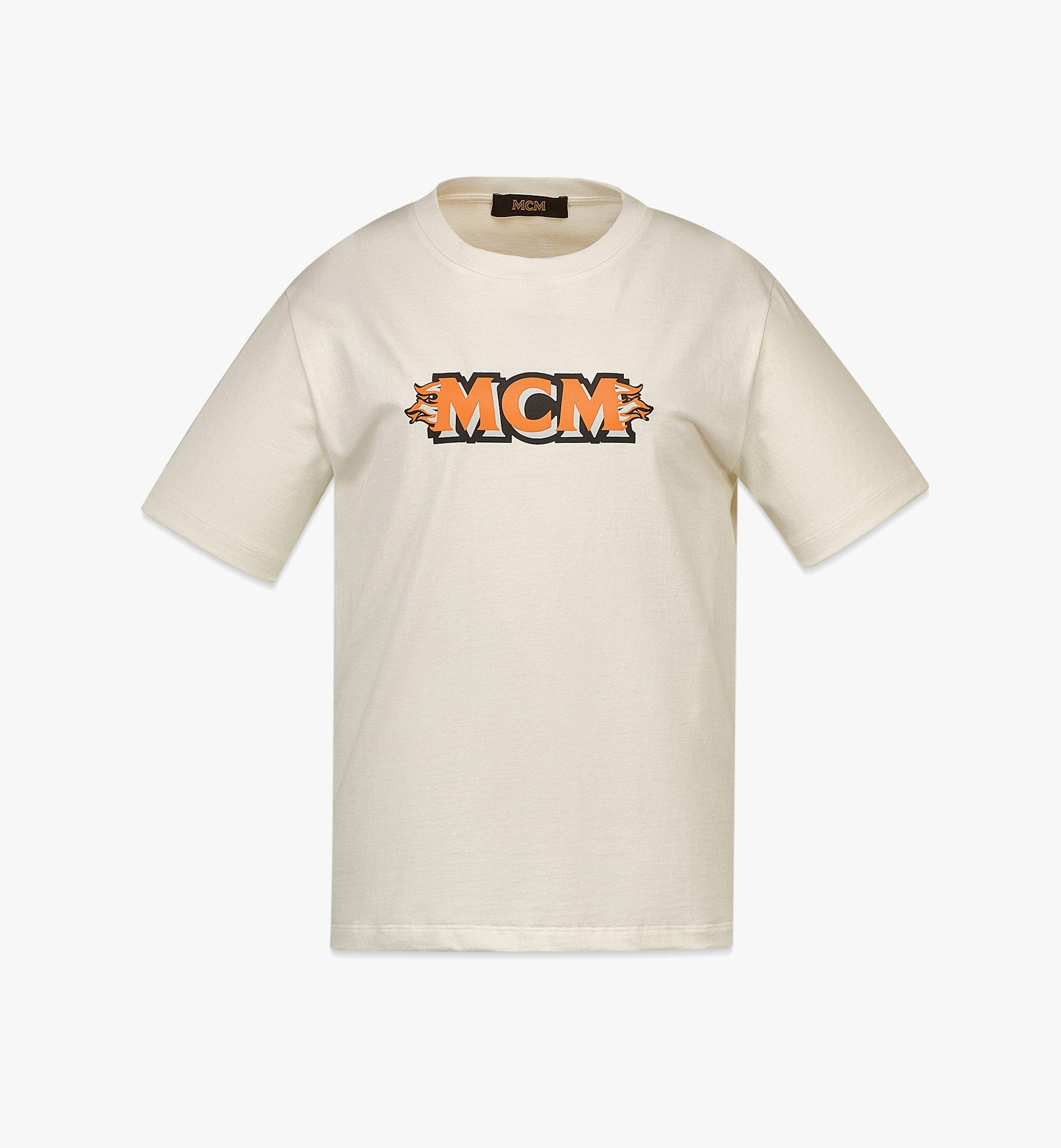 MCM Women's MCM Logo T-Shirt White MFTBAMM01WI00M Alternate View 1