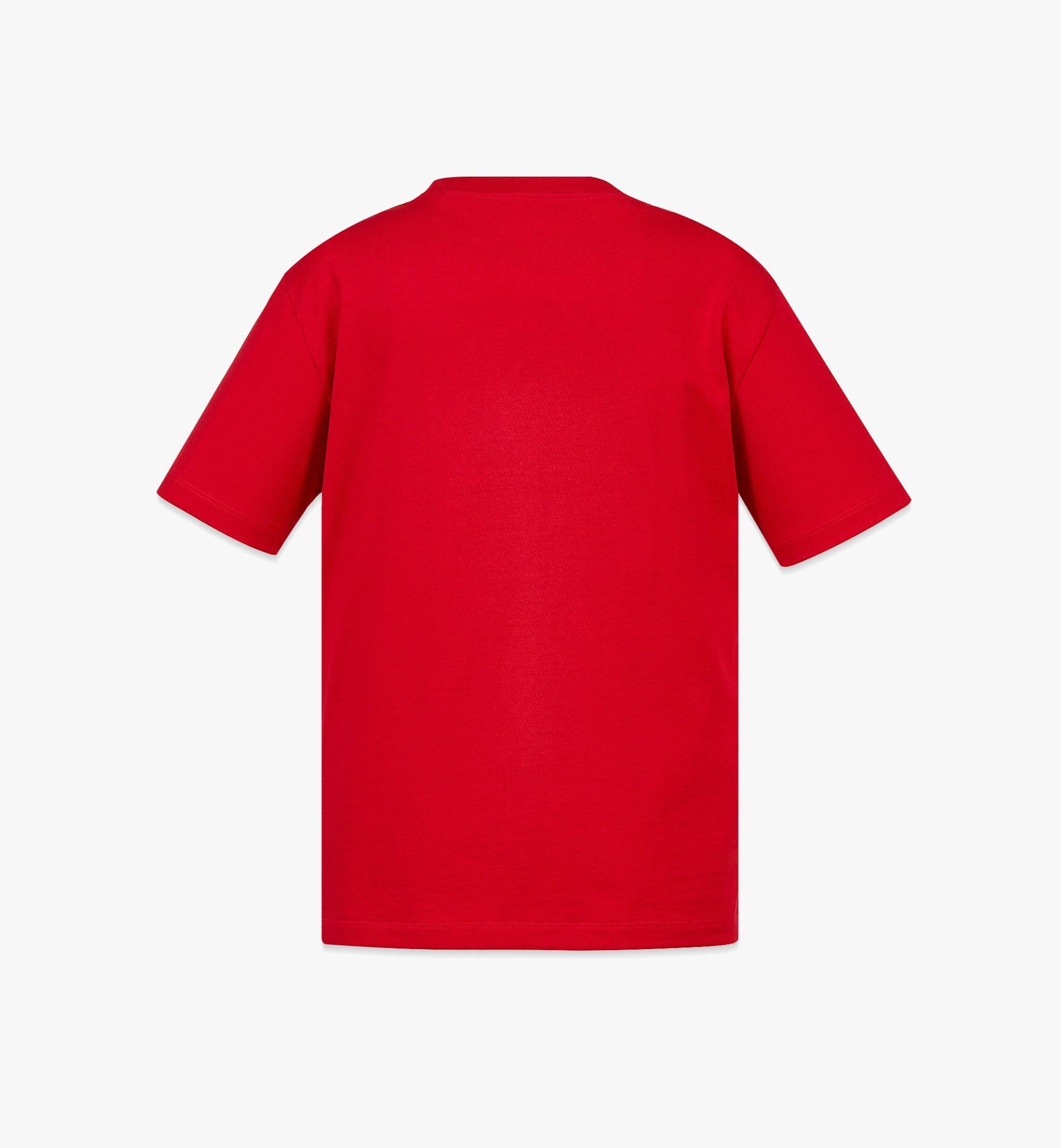 MCM Women's Organic Cotton T-Shirt with Nylon Zip Pocket Red MFTBAMM02R000L Alternate View 1