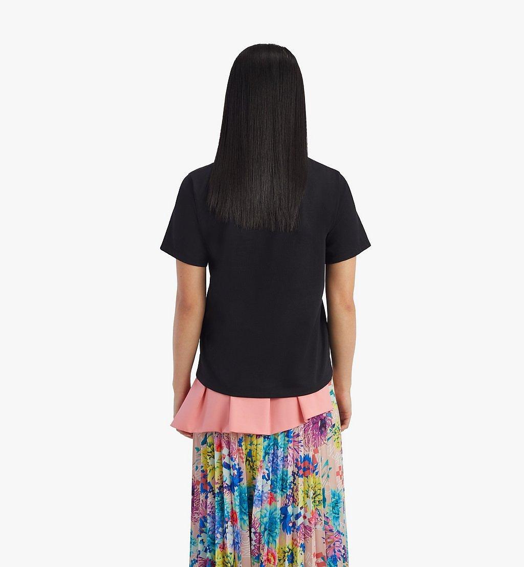 MCM T-Shirt mit geometrischem Lorbeerkranz für Damen Black MFTBSMM05BK00L Noch mehr sehen 3