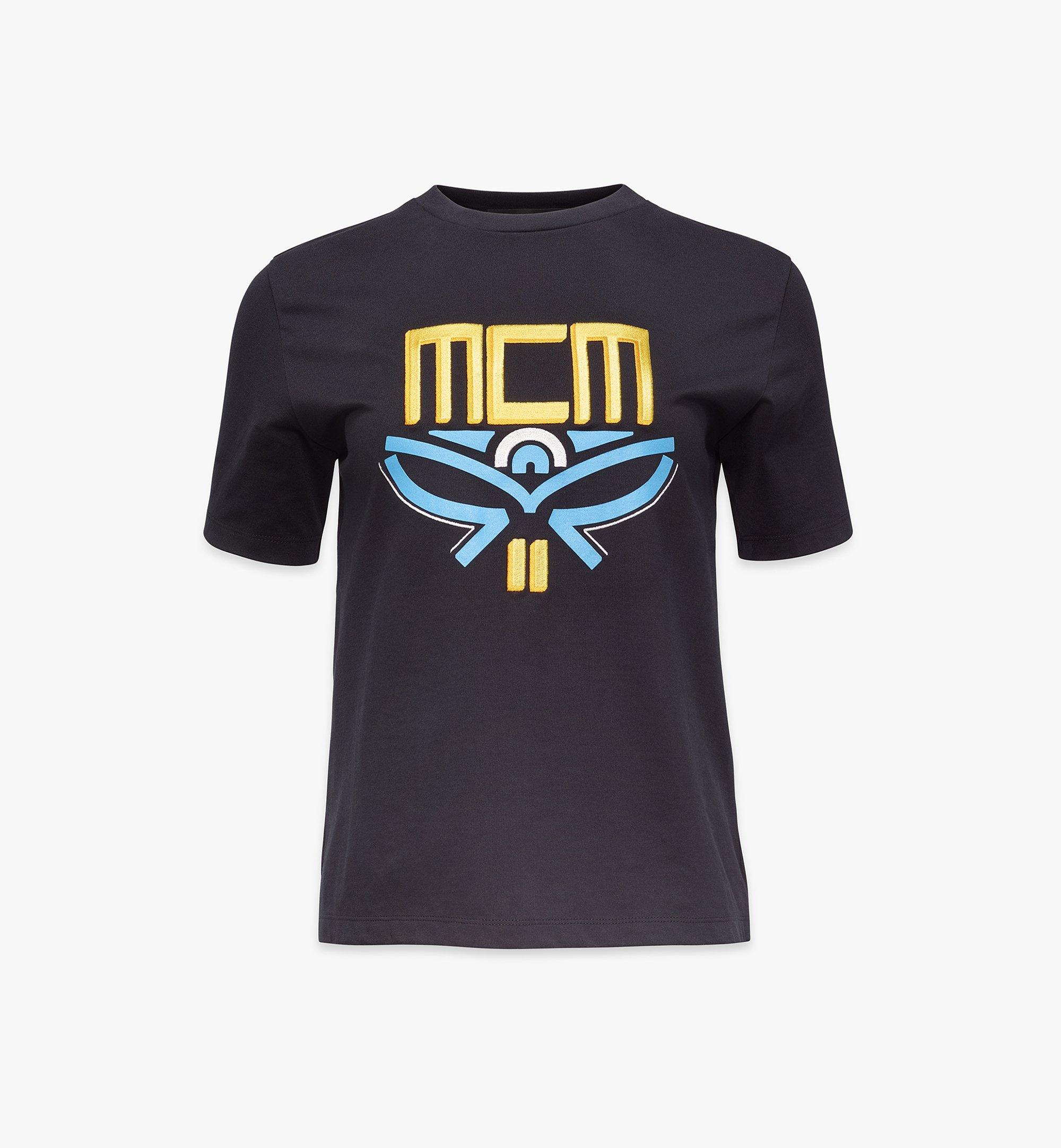 MCM T-Shirt mit geometrischem Lorbeerkranz für Damen Black MFTBSMM05BK00S Noch mehr sehen 1