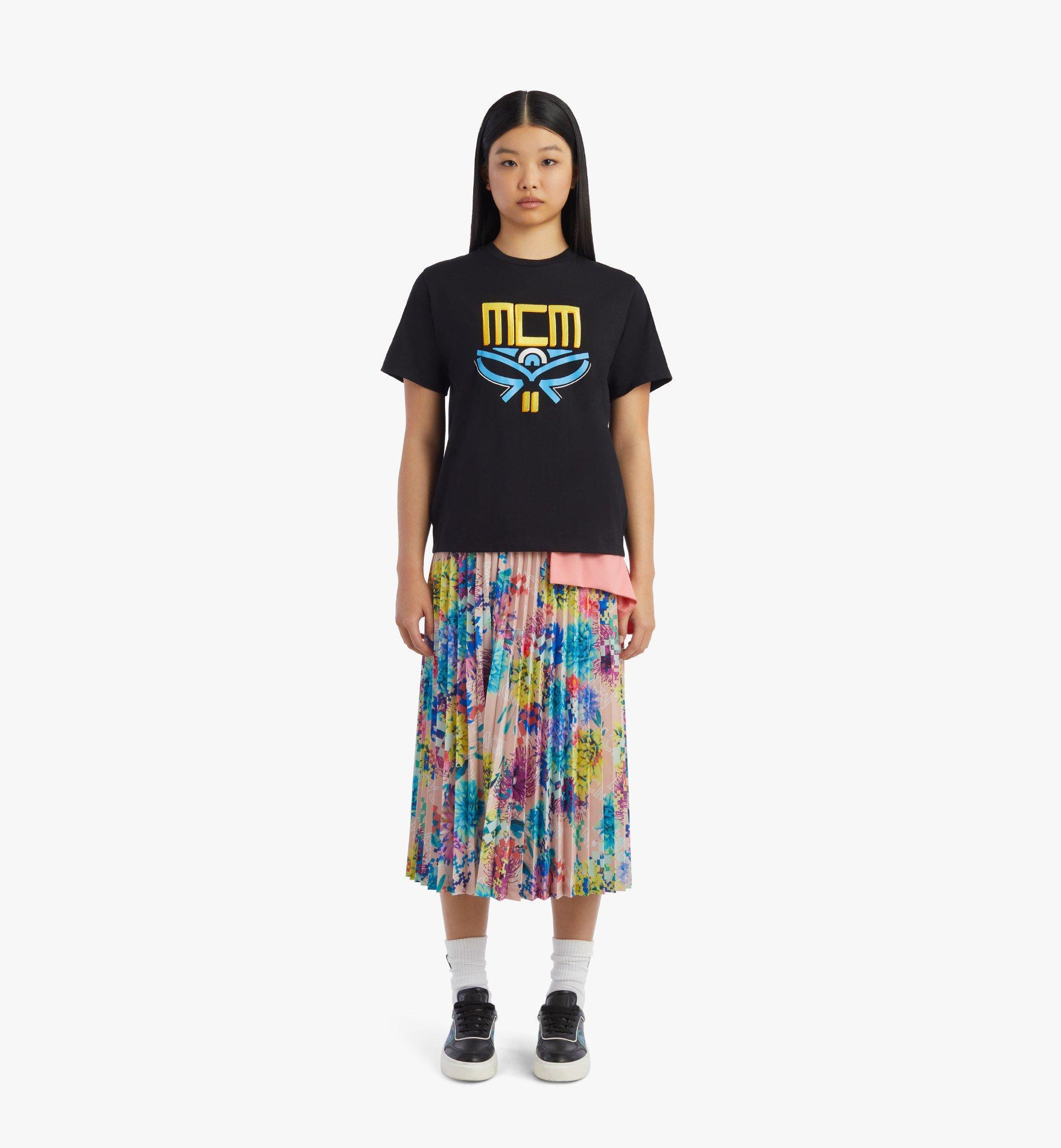 MCM T-Shirt mit geometrischem Lorbeerkranz für Damen Black MFTBSMM05BK00S Noch mehr sehen 3