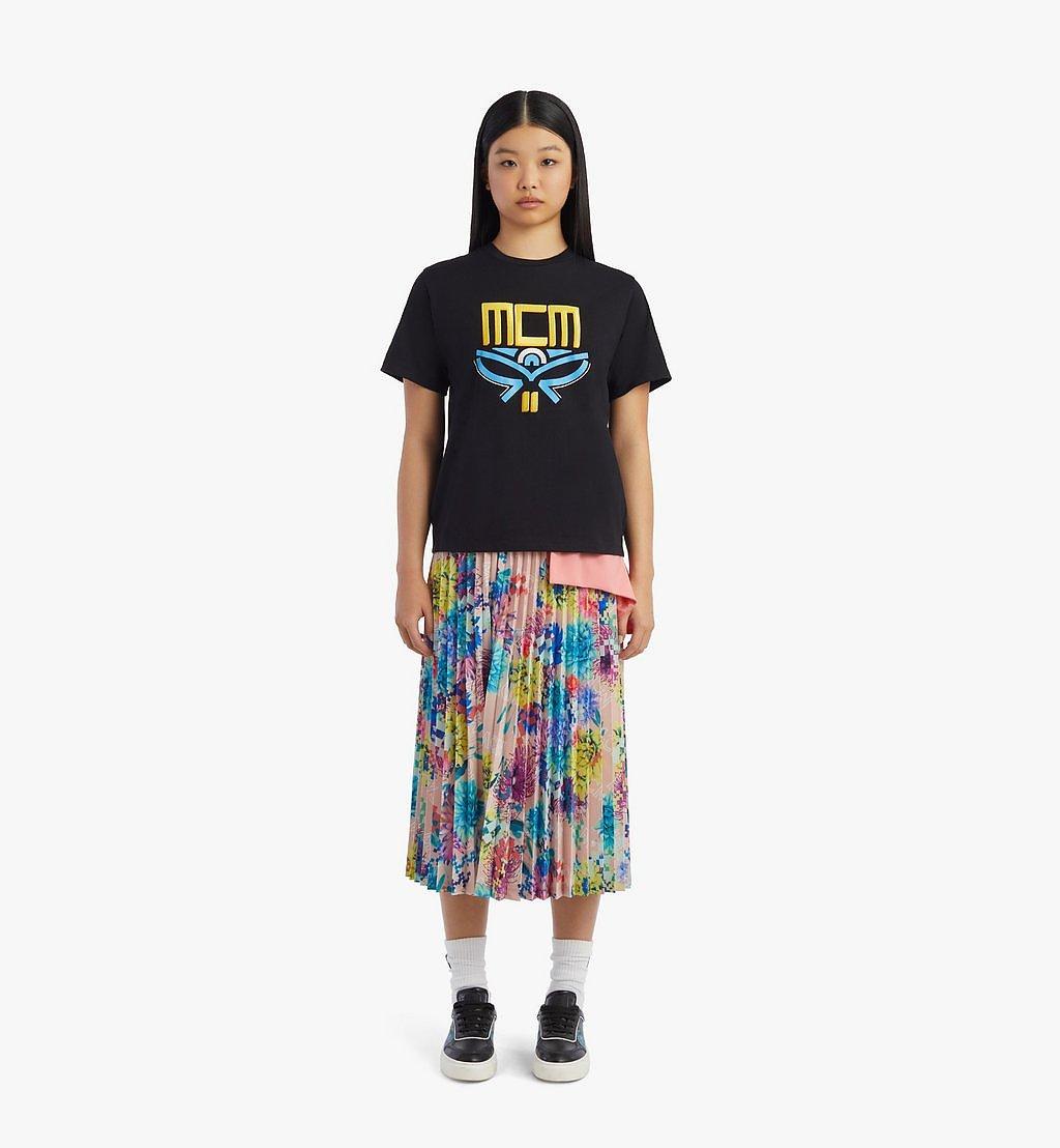 MCM Women's Geo Laurel T-Shirt Black MFTBSMM05BK00S Alternate View 3