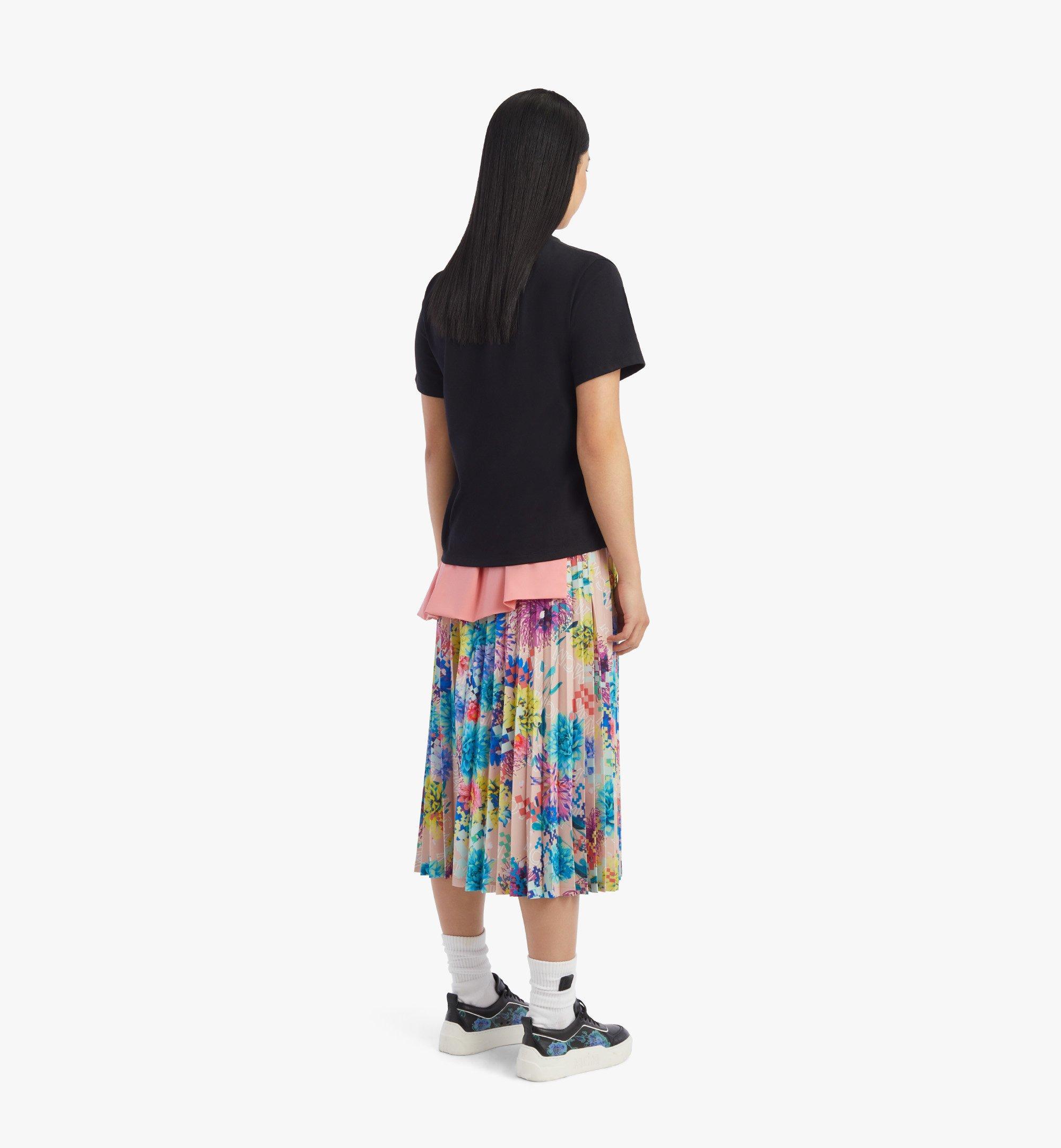 MCM T-Shirt mit geometrischem Lorbeerkranz für Damen Black MFTBSMM05BK00S Noch mehr sehen 2
