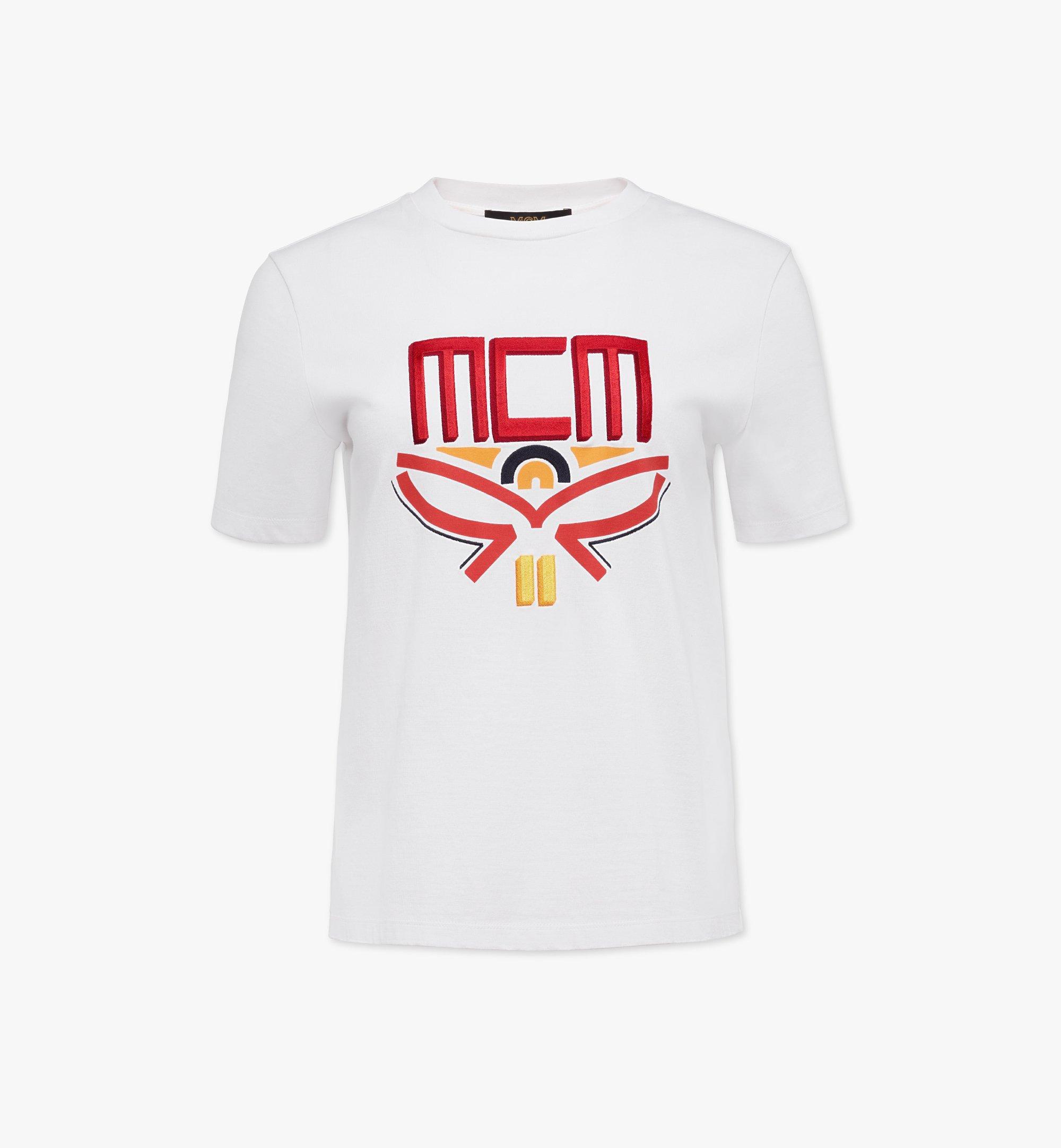 MCM Women's Geo Laurel T-Shirt White MFTBSMM05WT00L Alternate View 1