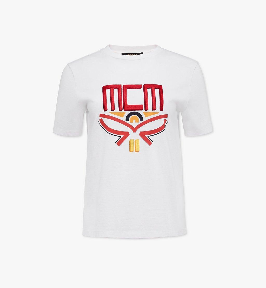 MCM T-Shirt mit geometrischem Lorbeerkranz für Damen White MFTBSMM05WT00L Noch mehr sehen 1