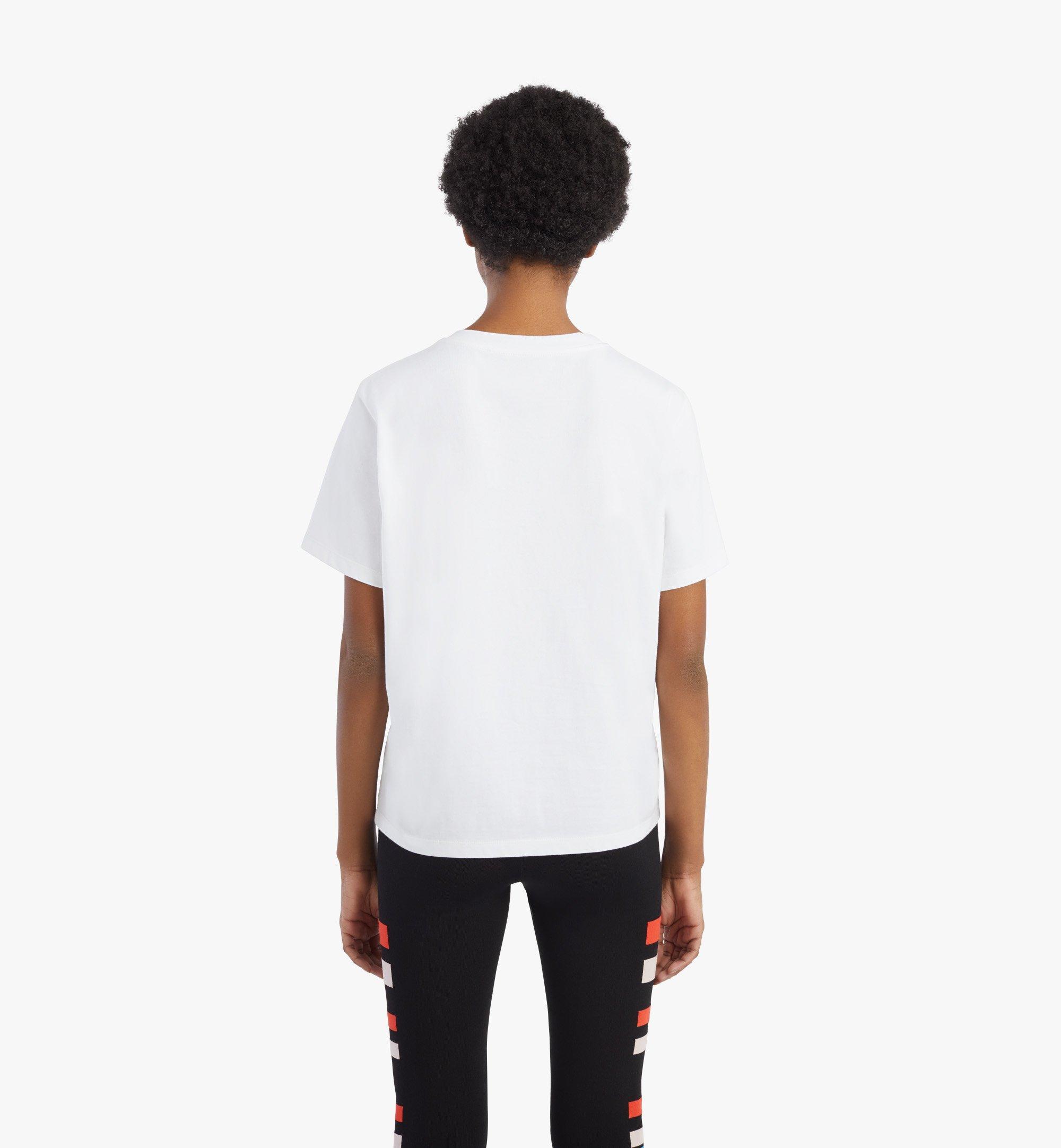 MCM Women's Geo Laurel T-Shirt White MFTBSMM05WT00L Alternate View 4