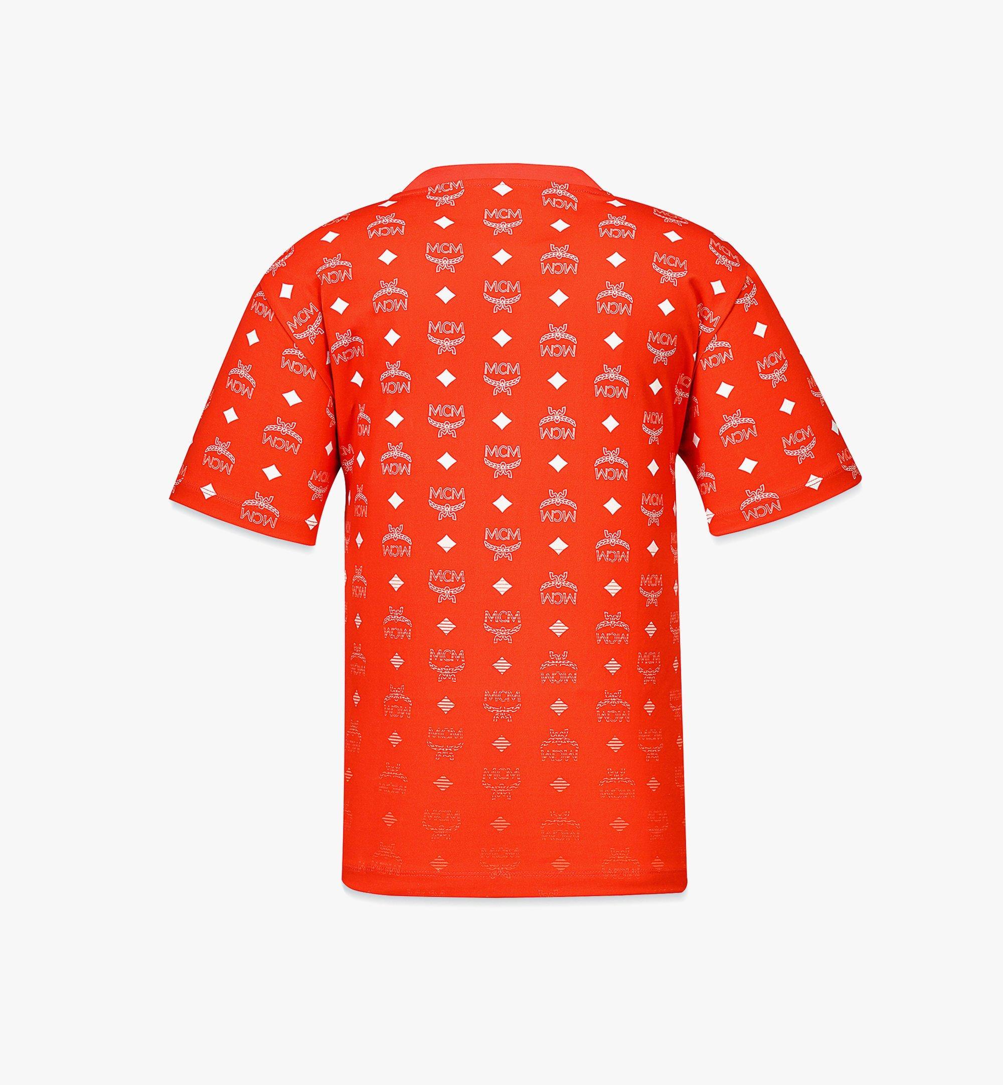 MCM Women's Gradient Visetos Print T-Shirt Red MFTBSMM06R800M Alternate View 1
