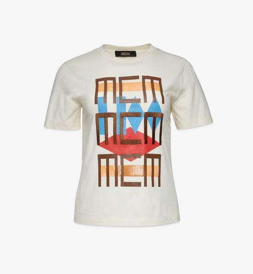 여성용 지오 그라피티 티셔츠