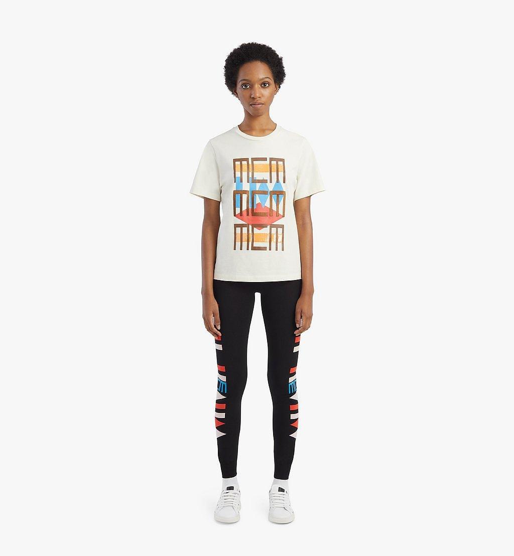 MCM T-Shirt mit geometrischem Graffiti für Damen White MFTBSMM07IO00L Noch mehr sehen 3