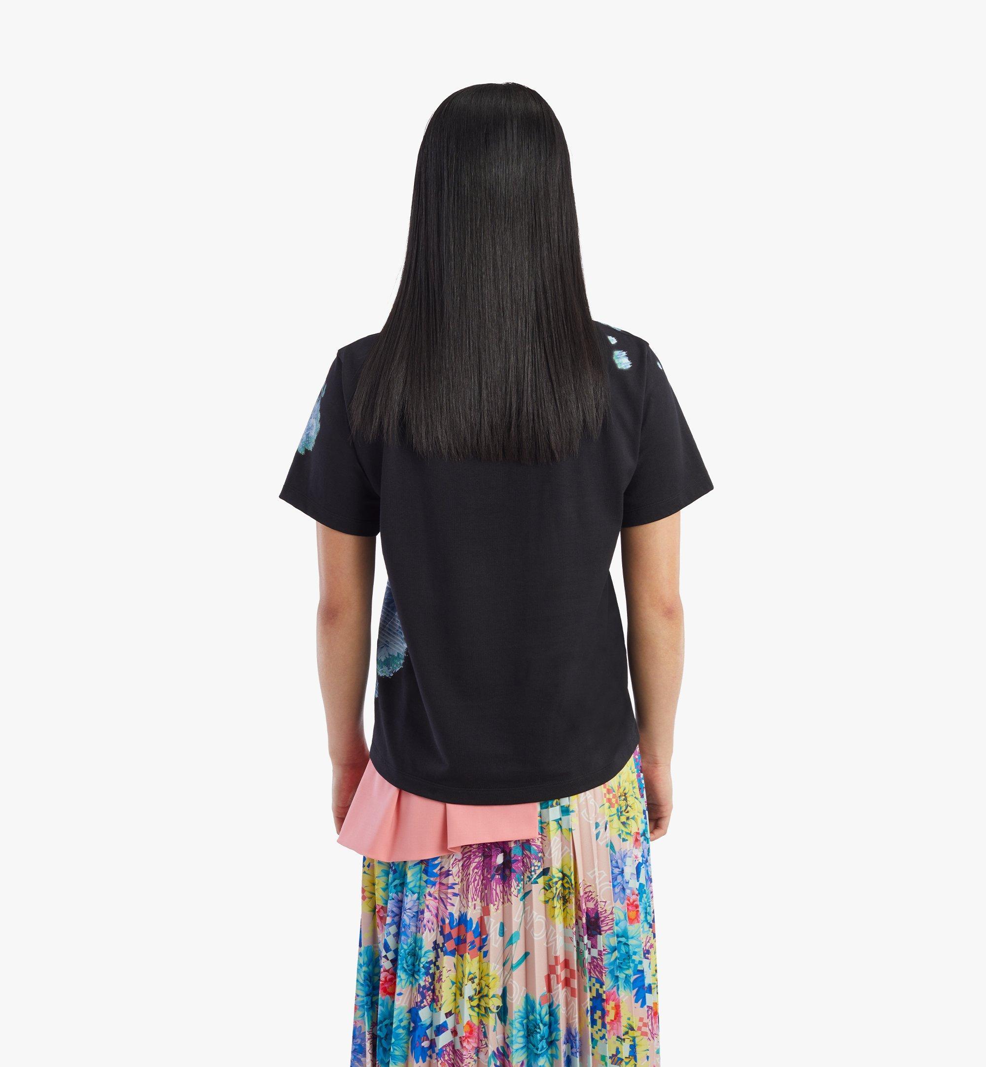 MCM Women's Tech Flower Print T-Shirt Black MFTBSMM09BK00M Alternate View 3